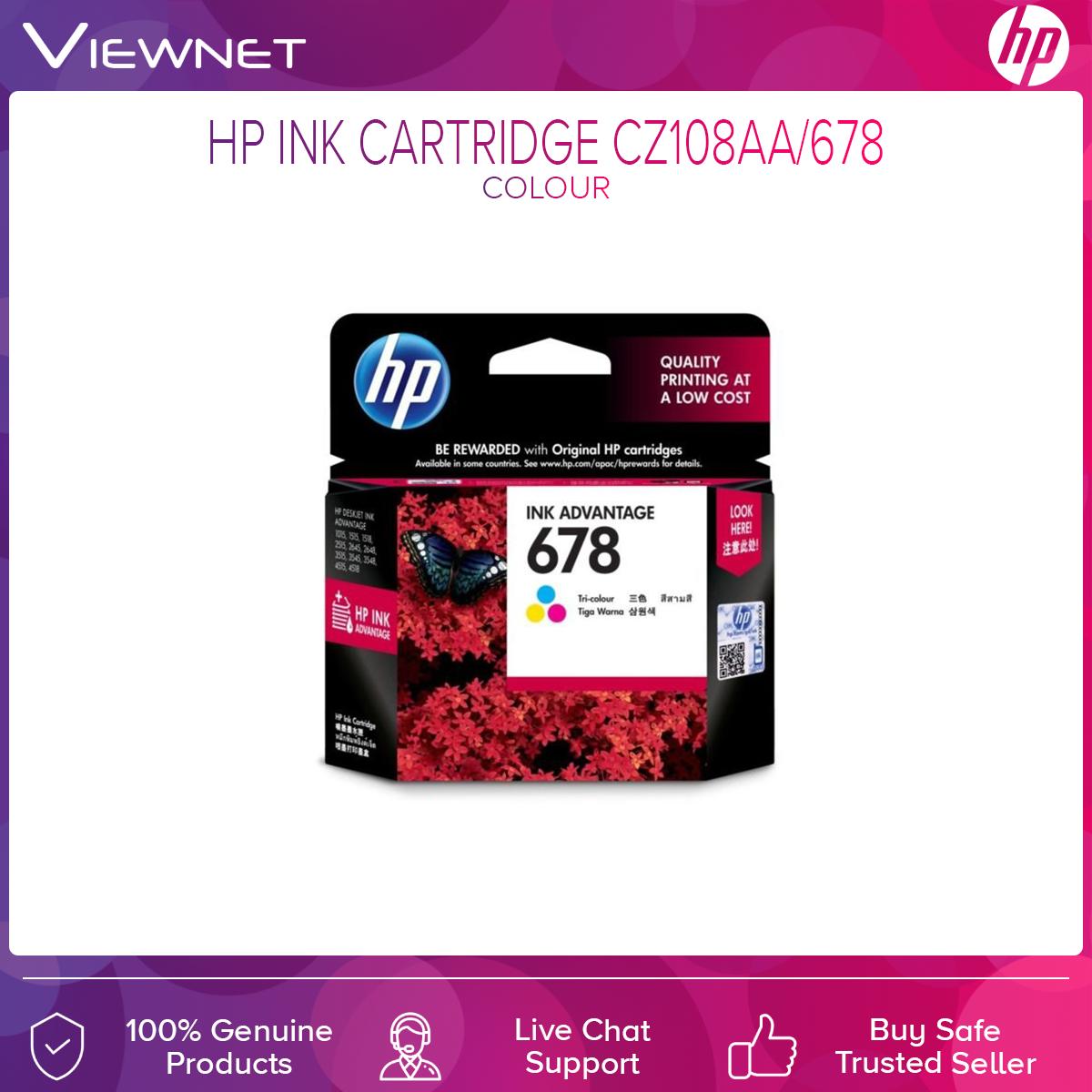 HP 678 Original Ink Advantage Cartridge CZ108AA/678 Ink (Tri-Color)