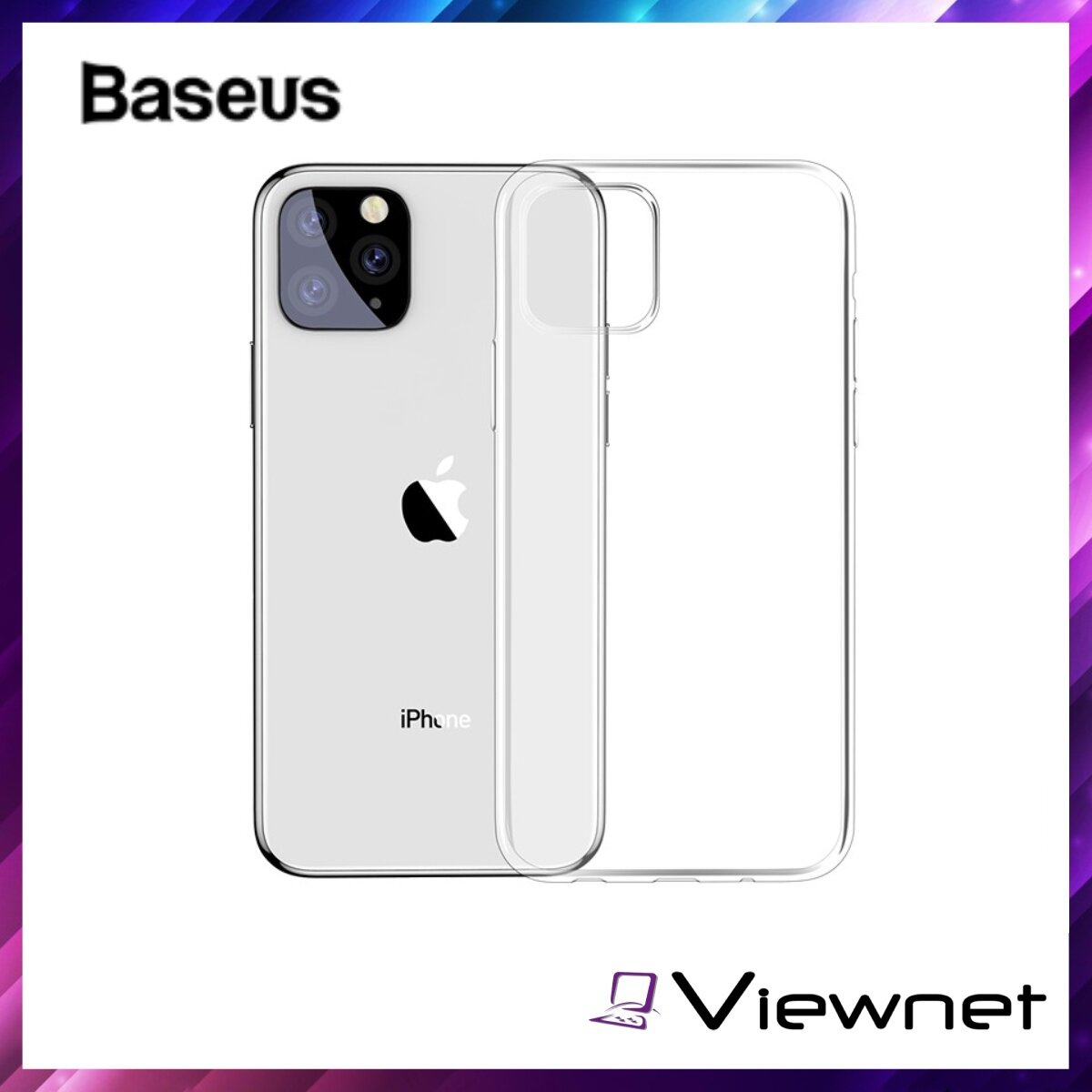 Baseus Simplicity Series Case For iPhone 11 Pro Max 6.5inch, Clear Germany Bayer TPU, Glossy, Anti-yellowing, Anti-dust, Dirt-proof, Transparent / Transparent Black / Transparent Gold