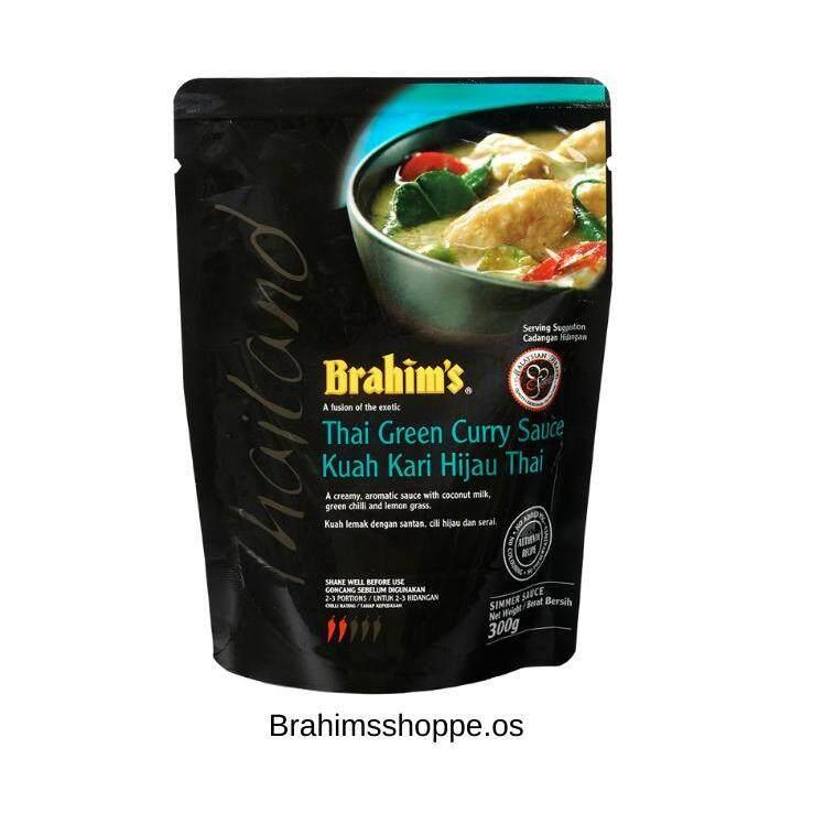Brahim's Thai Green Curry Cooking Sauce (Black Pouches)