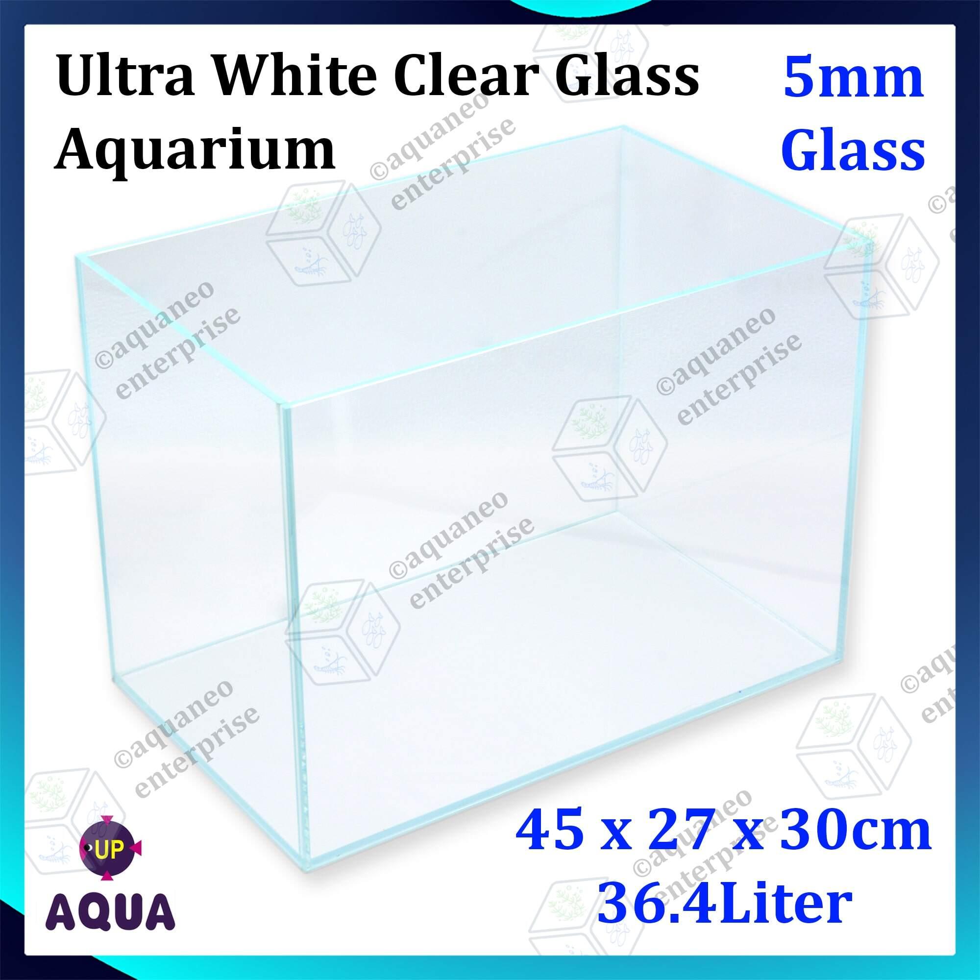 Up Aqua Ultra White Clear Glass Aquarium 45cm