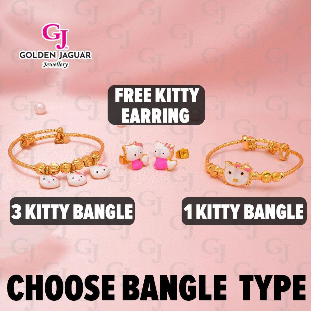 {NEW} GJ Jewellery Emas Korea Set - Classic Perfect Kitty Match (4 in 1) Combo Set