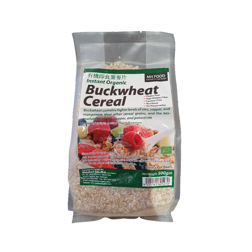 Mh Food Instant Organic Buckwheat Cereal 500Gm Twin Pack