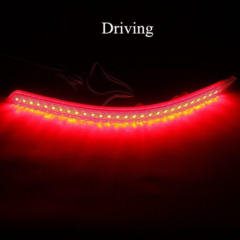 Car Lights - 2x LED Rear Bumper Reflector Brake Fog Light Lamp DRL For KIA OptiK5 Sedan - Replacement Parts