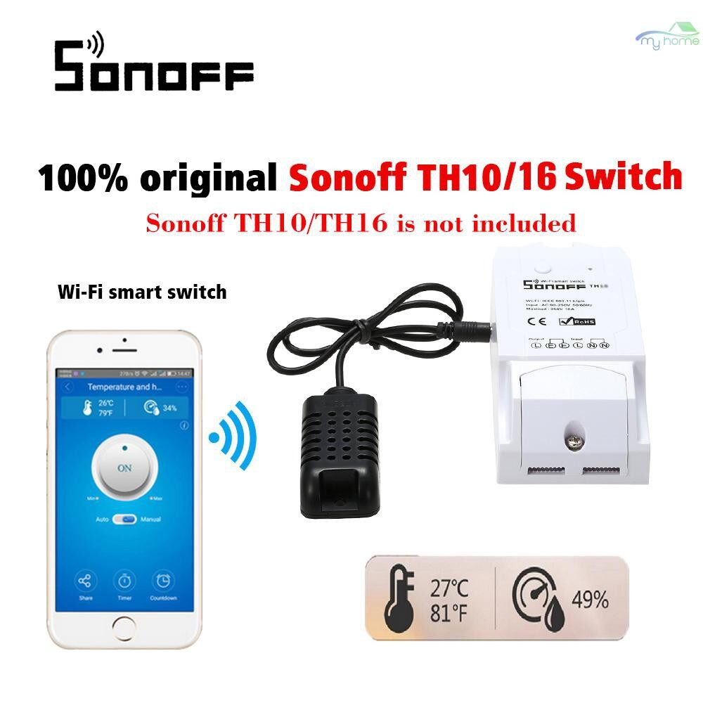 Security & Surveillance - AM2301 Temperature And Humidity Sensor Home Automation - BLACK