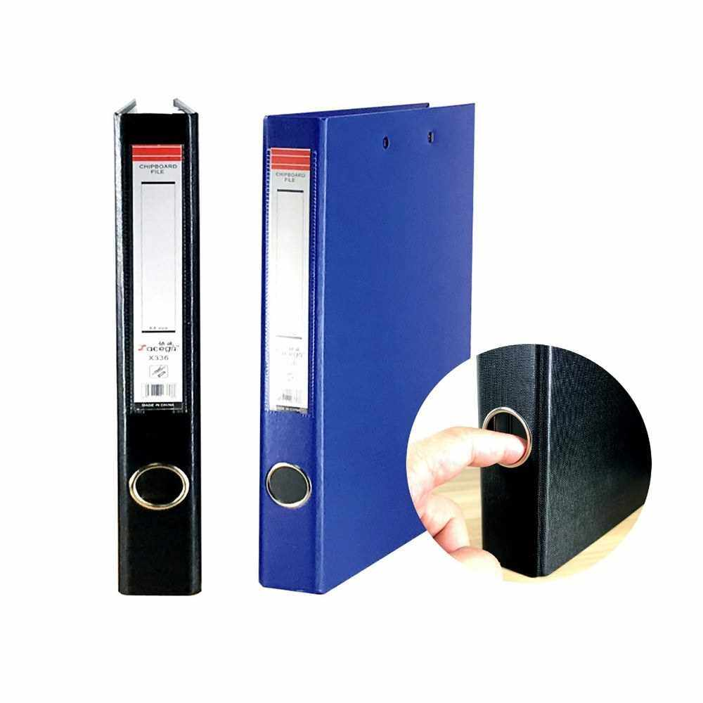 A4 3-Ring Binder Document Organizer Storage Durable File Folder Stationery Gift for Business Office School (Black)