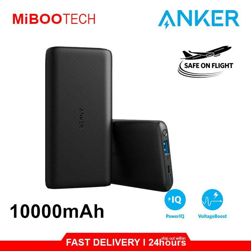 [Miboo] Anker PowerCore Lite 10000mAh Power Bank Travel Safety For All the Phone & Tablet MFI Huawei IPhone Samsung Oppo Powerbank Lightweight