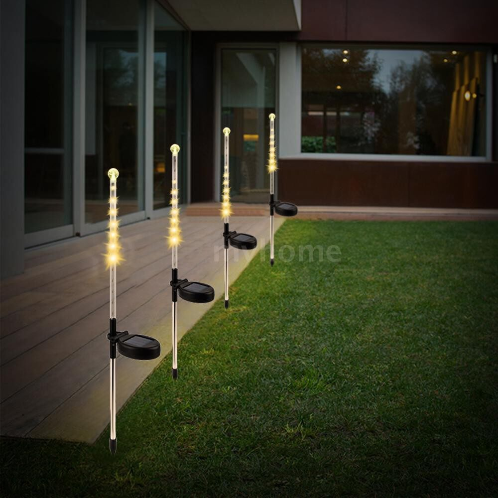 Outdoor Lighting - 1 PIECE(s)/ SET Meteor Shower Rain LEDs Solar Powered Energy Sensitive Intelligent Light Control Lawn - WARM WHITE / WHITE