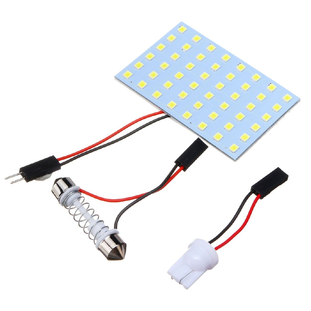 Car Lights - 48-SMD 1210 LED Light HID Panel Car Interior Reading Dome Bulb Light - Replacement Parts