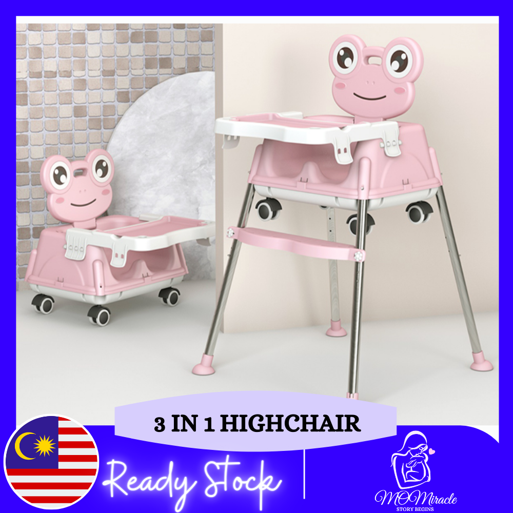 MOMiracle Multi-functional Foldable Baby Safety High Chair Baby Feeding Dining Table Chair