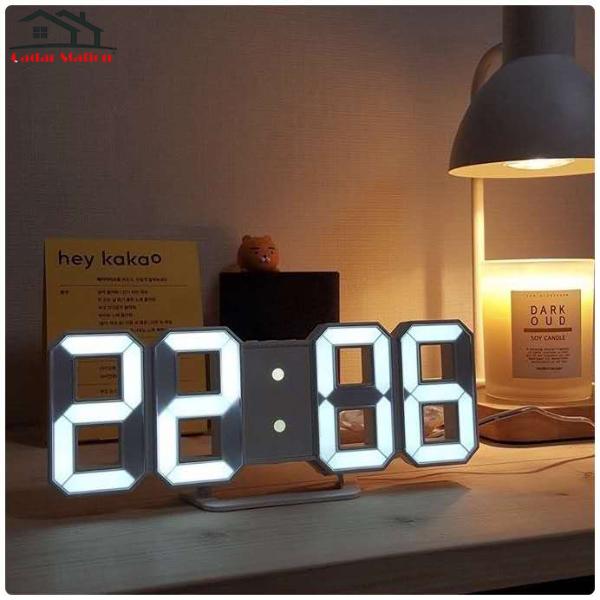 CS3D LED Wall Clock Modern Digital Table Desktop Alarm Clock Nightlight