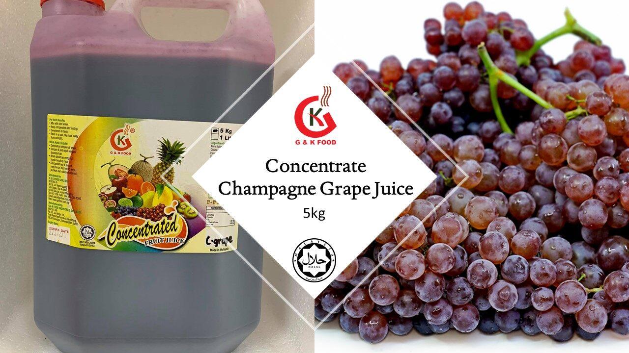 [100% JAKIM HALAL] 5kg Concentrate Premium Grape Juice