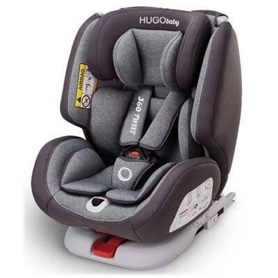 HUGObaby: 360 Twist Convertible Car Seat - GREY