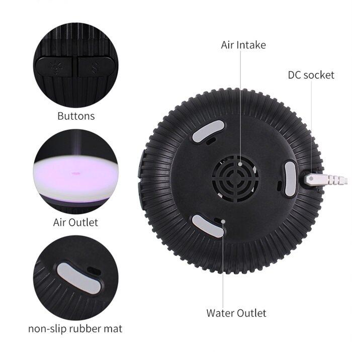 HAIRperone USB Aroma Diffuser Stripe Black (100ml)