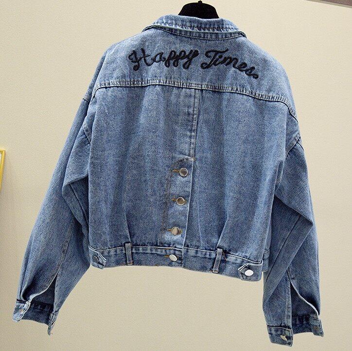 (Pre Order 14 Days) JYS Fashion Korean Style Women Jeans Jacket C ollectioncol538-50074-Dark Blue L