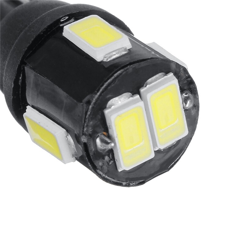 Car Lights - 10 PIECE(s) T10 6LED License Plate Light Bulbs Bright White 194 168 175 W5W 2825 192 - Replacement Parts
