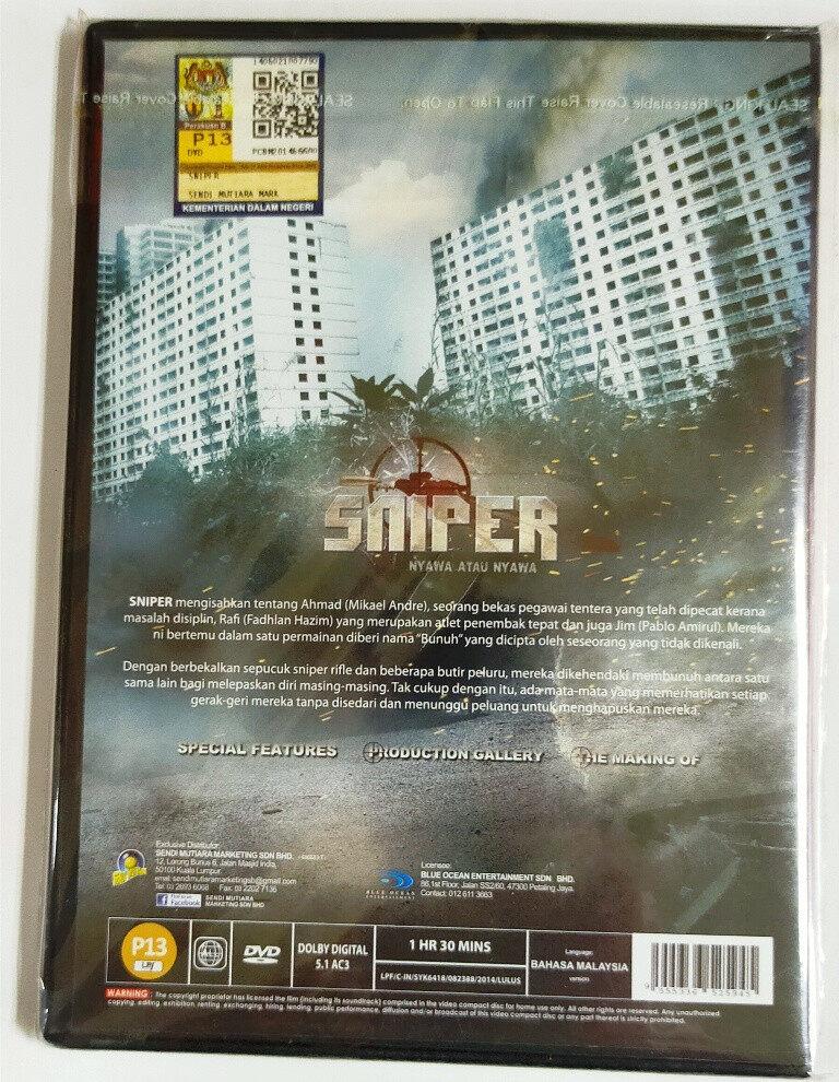 Malay Movie Sniper : Nyawa Atau Nyawa DVD 2014 Filem