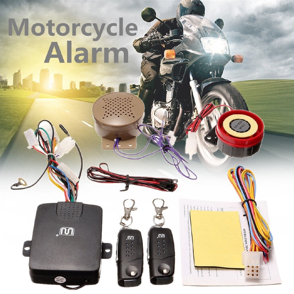 Moto Accessories - Motorbike Bike Security Alarm System Immobiliser Remote Controller - Motorcycles, Parts
