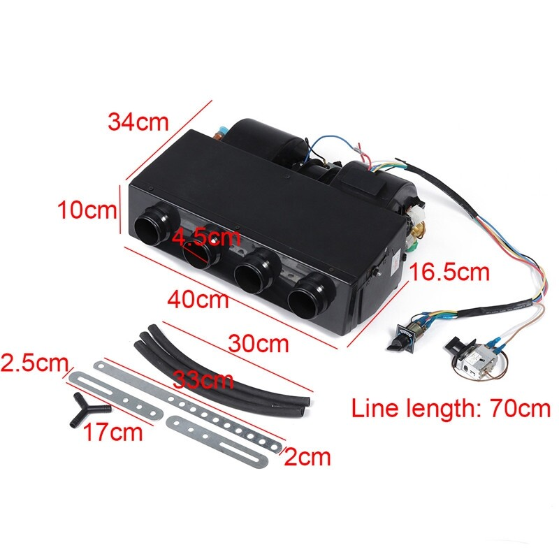 Car Lights - 12/24V Universale Car Vehicles Under-dash 4-Port Heater 3800rpm Warning Cooling - Replacement Parts