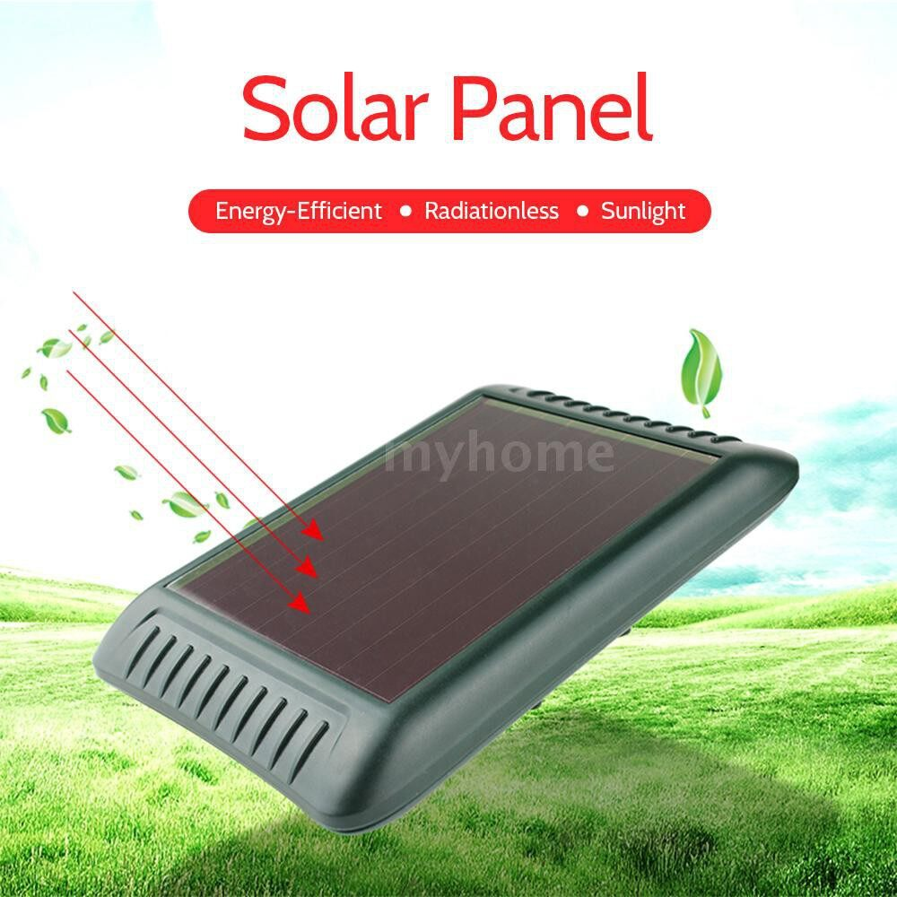 Lighting - Solar ULTRAsonic Vibrating Rodent Mole Mice Repellent Outdoor Farm Waterproof Sonic Wave Gopher - MULTICOLOR