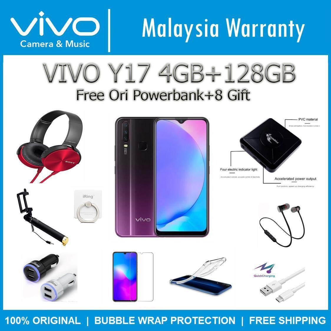 (FREE GIFT) VIVO Y17 (4GB RAM+128GB ROM) 100% Original Vivo Malaysia Set