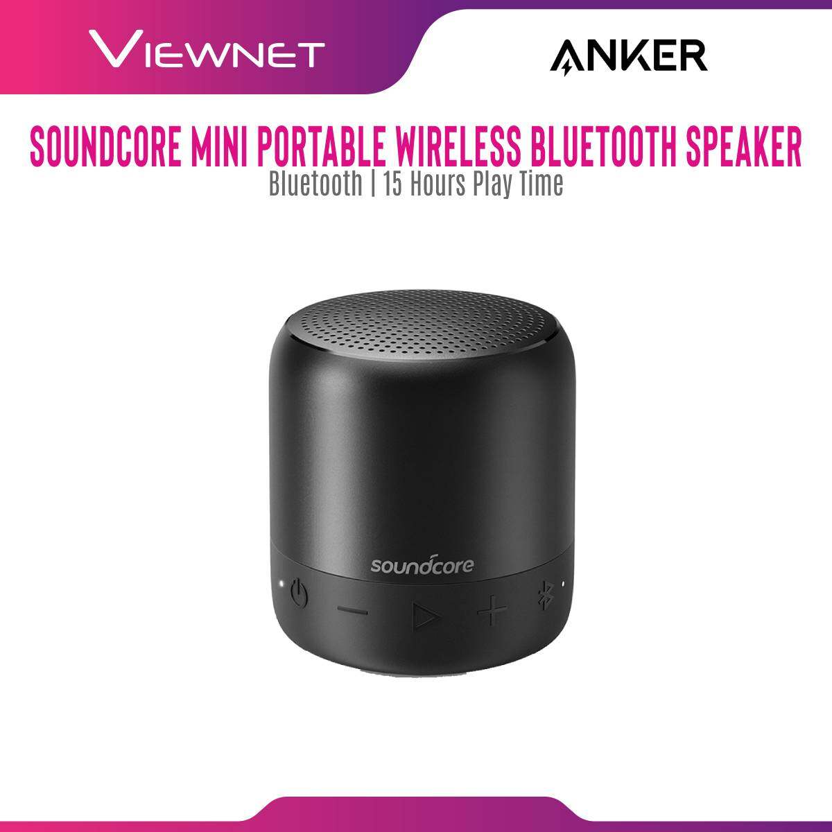 Anker Portable Speaker SoundCore Mini A3101 with Bluetooth 4.0 Connection, 15 Hours Playing Time, SD Micro Support, AUX-In Jack, FM Radio