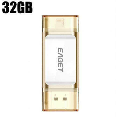 EAGET I60 USB 3.0 32GB OTG FLASH DRIVE WITH CONNECTOR (CHAMPAGNE)