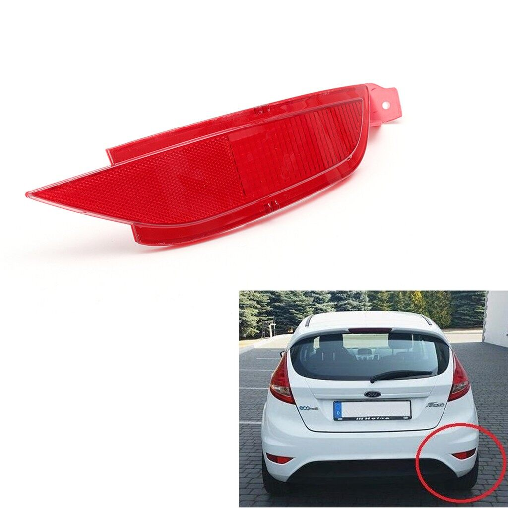 Engine Parts - Ford Fiesta Mk7 VII 2008- Rear Bumper Right Reflector Light Lamp - Car Replacement