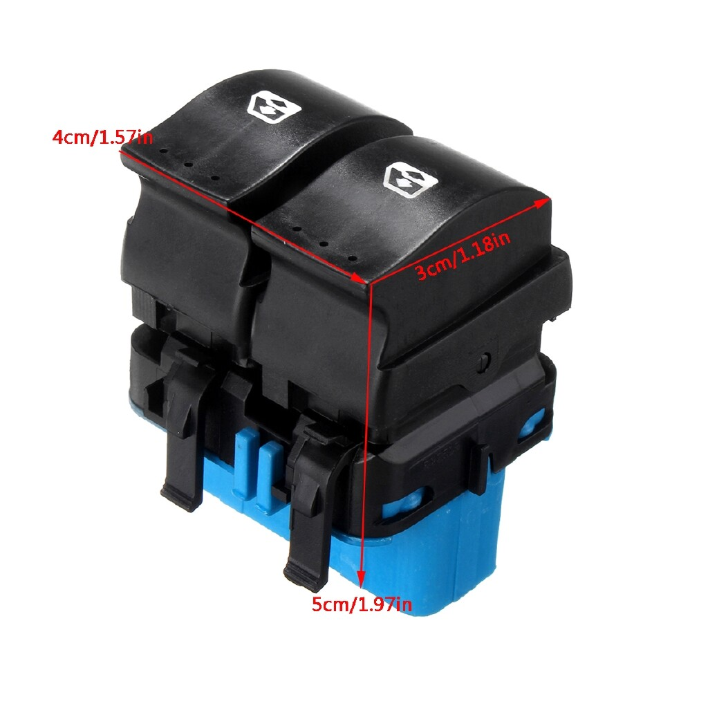 Car Lights - FOR VAUXHALL VIVARO MOVANO FRONT DOOR ELECTRIC WINDOW SWITCH 93858398 - Replacement Parts