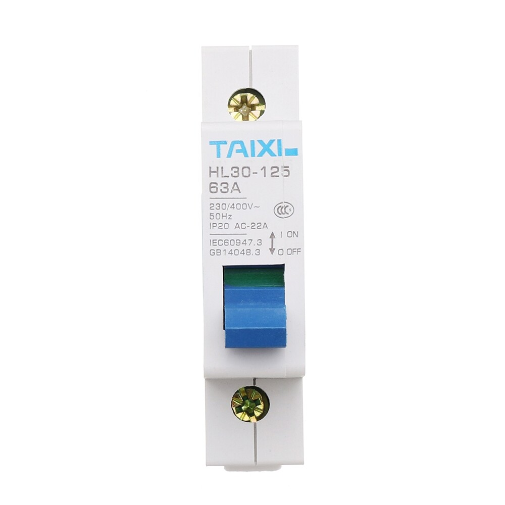 DIY Tools - TAIXI HL30-63 2P 63A 230V Circuit Breaker MCB Direct Current C Curve Isolating Switch - Home Improvement