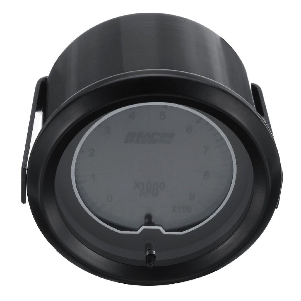 Gauges & Meters - 2 52mm 12V Tachomete Gauge Blue Digital LED 0-9 X1000 Display Tacho Car Meter - Car Accessories