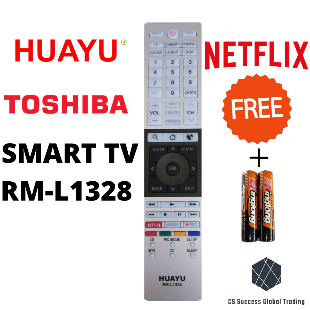 HUAYU SONY RM-L1328 COMMON LCD/LED SMART TV REMOTE CONTROLER