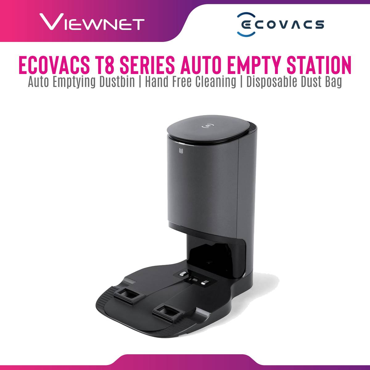 ECOVACS T8 Series Auto-Empty Station - Compatible with T8 / T8AIVI [Local Shipping & 1 Year Warranty]