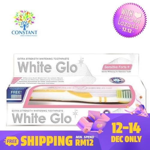 White Glo Sensitive Forte + Whitening Toothpaste 150g