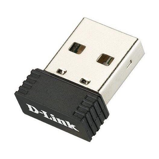 D-Link Wireless Pico USB Adapter, DWA-121 N150, 2.5GHz, USB 2.0, Wireless