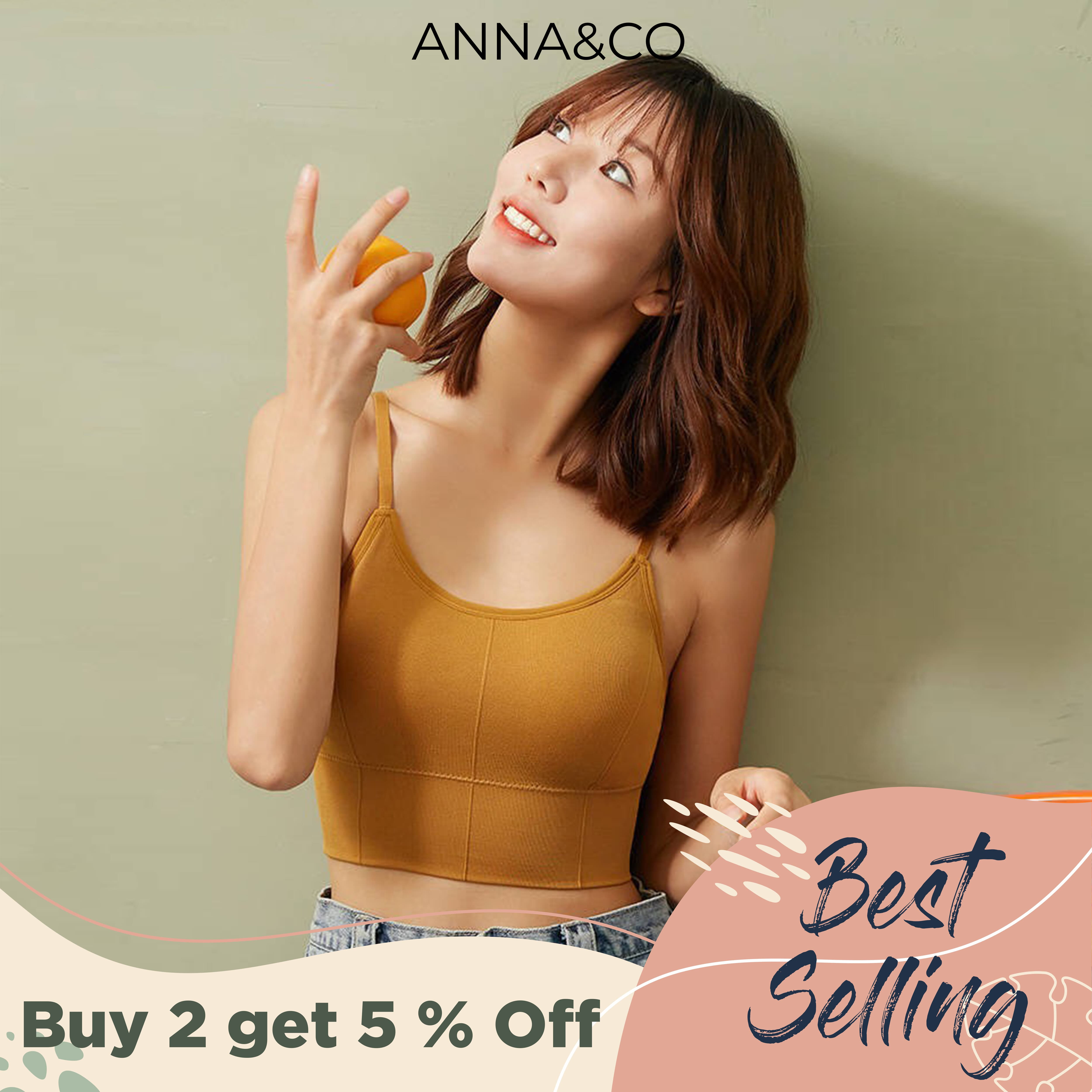 AnnaCo Juliet Women Bras Fine Luxury Premium lingerie Stretchable Japan Korean Style Wireless Seamless 3D Push Up Breathable Singlet type Bra with Removable Pads Stretchable Sexy Thin Strip Bra Full Cup One Size Easy Wearing ONE SIZE 646