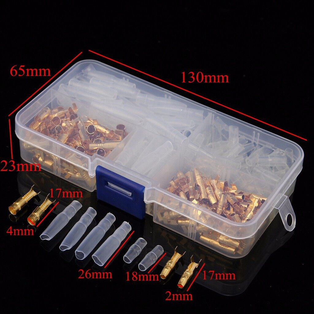 Cool Gadgets - 120 PIECE(s)/box Brass Bullet 3.5mm Connector Terminal Male & Female with Cover ELK - Mobile & Accessories