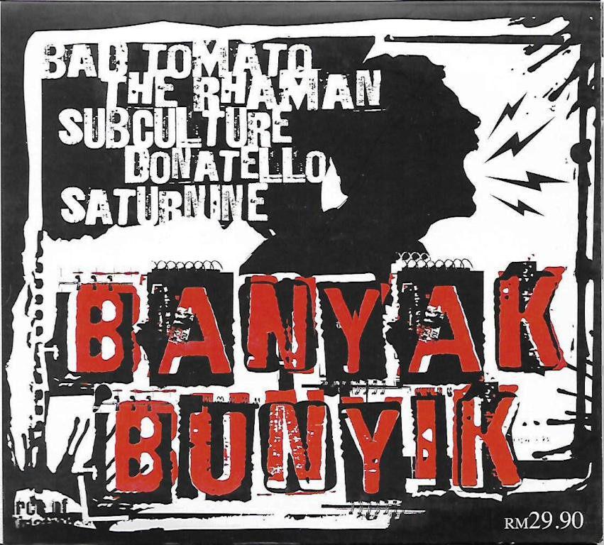 Banyak Bunyik - Punk Rock Album CD Subculture / Bad Tomato / Saturnine / The Rhaman / Donatello