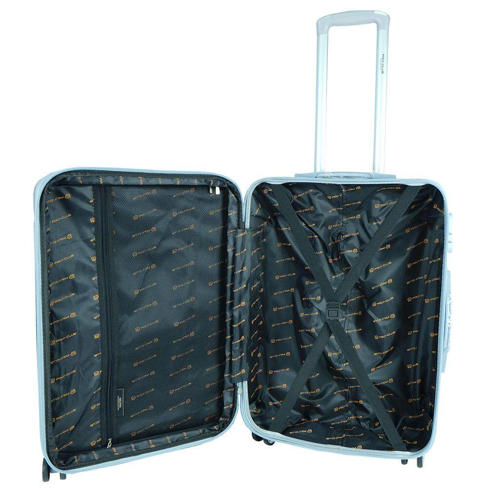 Poly-Club BA1987 20inch 4W ABS Hard Case Luggage with Anti-Theft Zipper