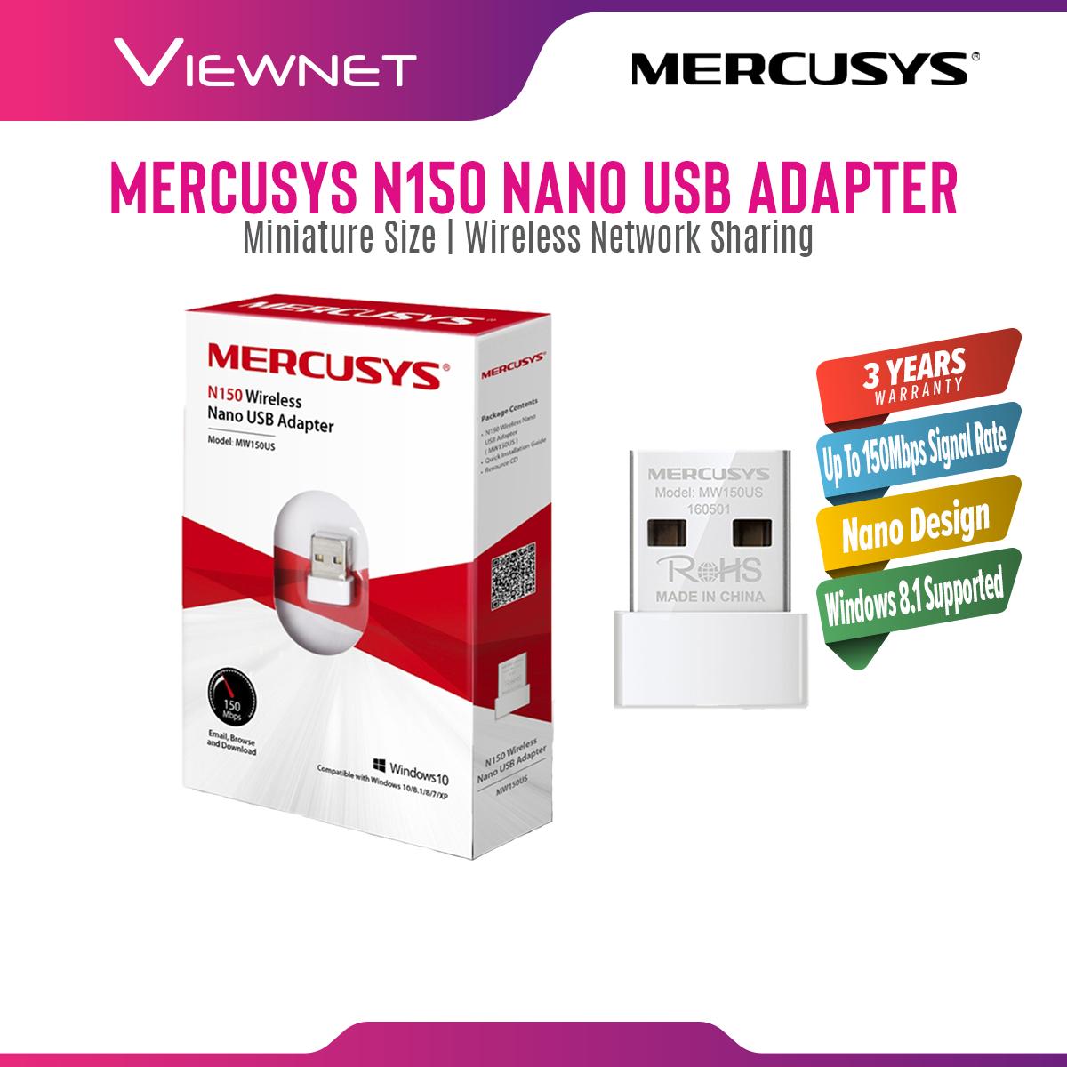 Mercusys MW150US Wireless N150 Nano USB Wireless WiFi Adapter (Powered TP-Link)