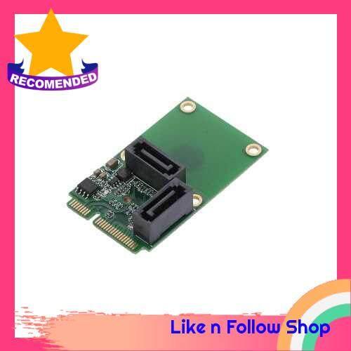 Mini PCI-E to SATA3 Expansion Card SATA3.0 Card Mini PCIE Hard Disk Adapter Card 2 Ports (Standard)