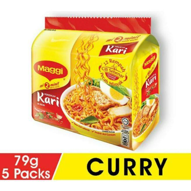 Maggi Instant Noodles Curry (5 x 79g)