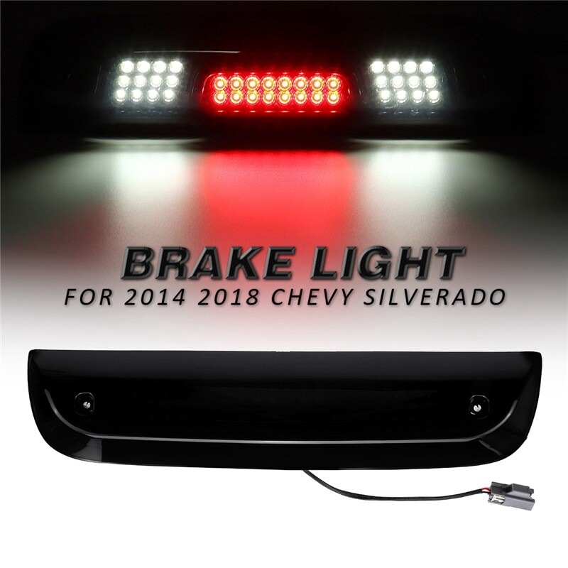 Car Lights - For 2014 Chevy Silverado Smoke Black LED Third 3rd Brake Light Cargo Lamp - Replacement Parts