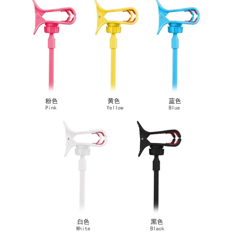 Universal Lazy Phone Stand Holder Clip Flexible Long Arm Desk Table Bed Clips Bracket - PINK / YELLOW / BLUE / WHITE / BLACK