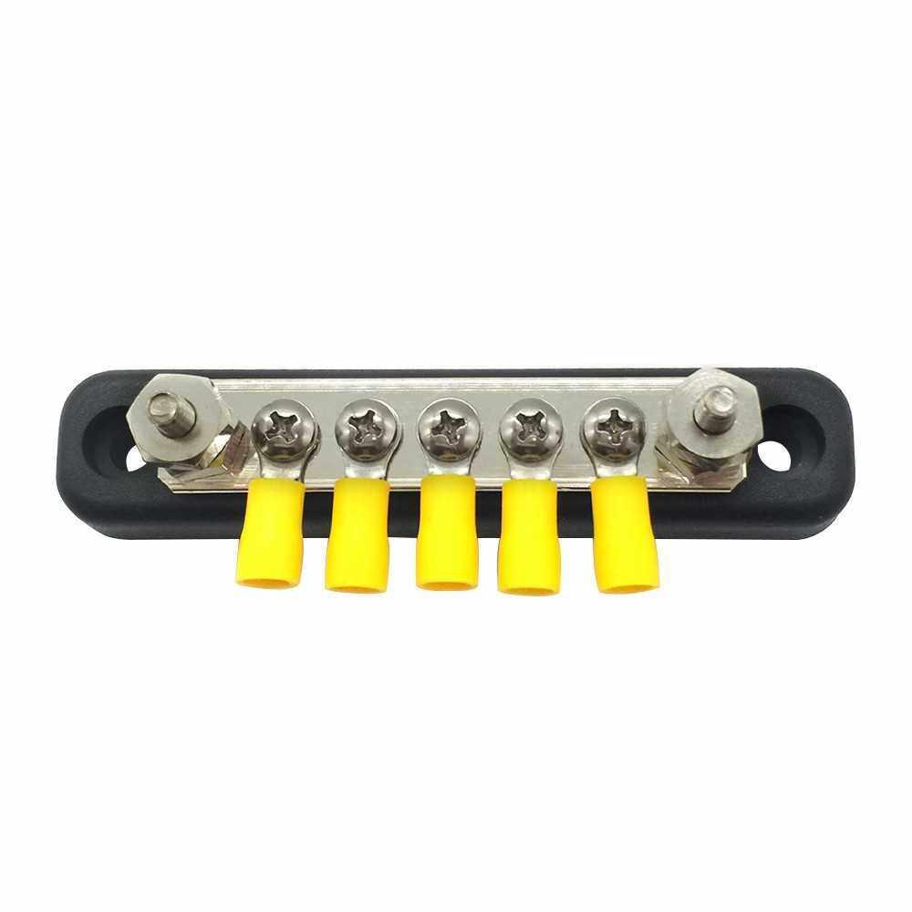 5 Screw Terminal Ground Distribution Block kits Line Buss Bar100A (5)