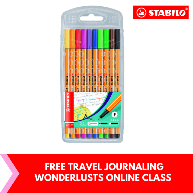 FREE Travel Journaling for Wanderlusts : STABILO® point 88® Fineliner Pen (Set of 10's)