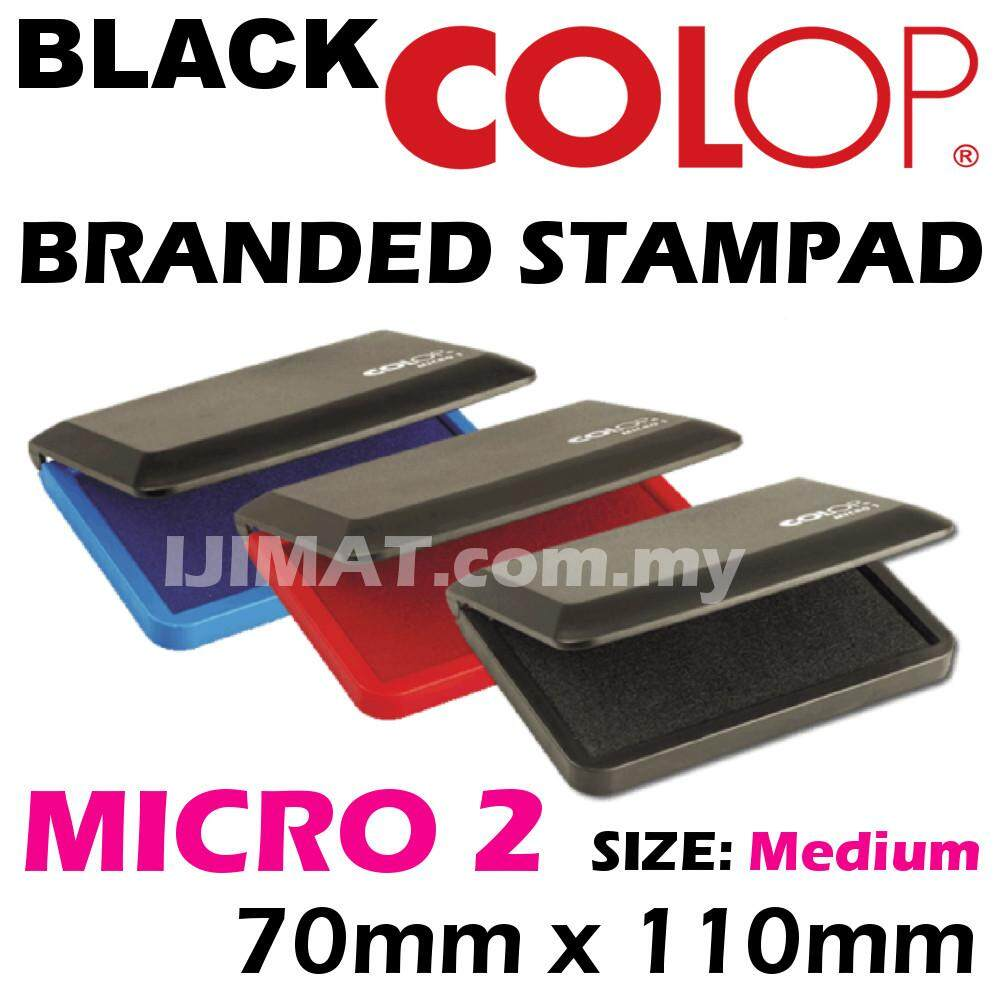 COLOP Stamp Pad Micro 2 Black, Blue, Red (70 x 110mm) Medium Size