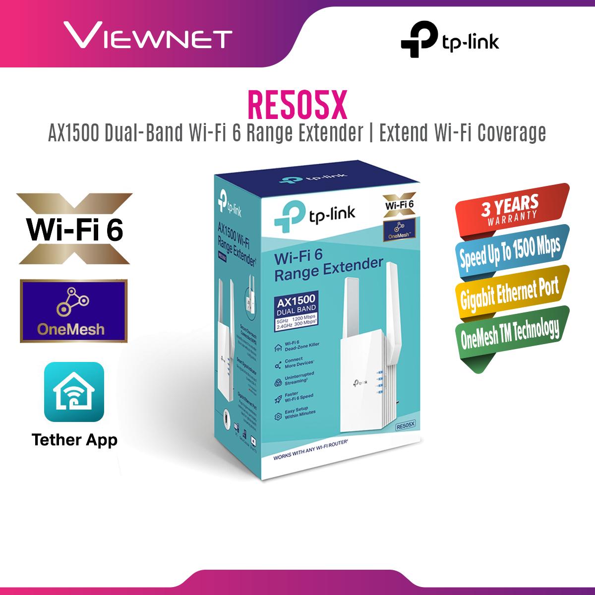 TP-Link RE505X - TP Link Wi-Fi 6 AX1500 Range Extender RE505X