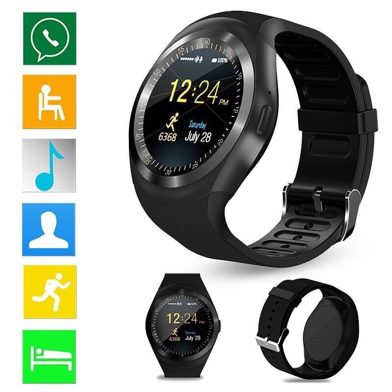 Smart Watch - Waterproof BLUETOOTH Smart Watch Phone Mate For Android IOS iPh Samsung LG Y1 - BLUE / SILVER / PINK / BLACK