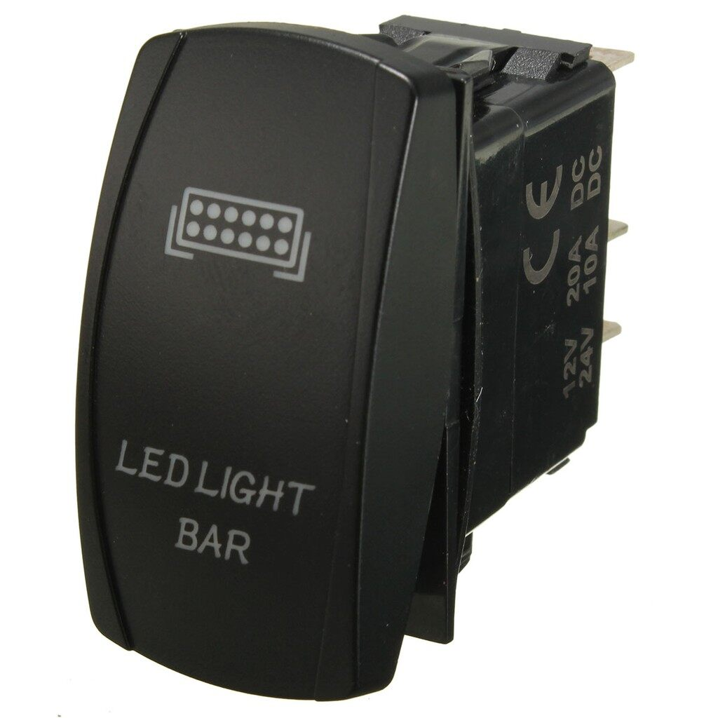 Car Lights - LED Work Light Bar Laser Rocker Switch Wiring Harness Kit Loom W/ 40A Relay Fuse - Replacement Parts