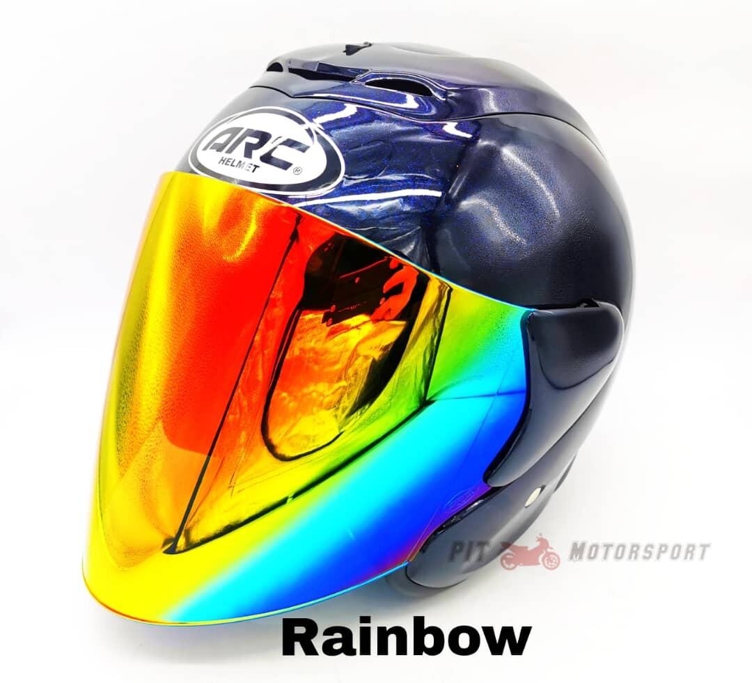 Malibu Blue Helmet ARC RITZ Original Size L / XXL Add On Visor Clear/Smoke/Gold/Red/Blue/Rainbow MT15 R15 Y15ZR Vario RS